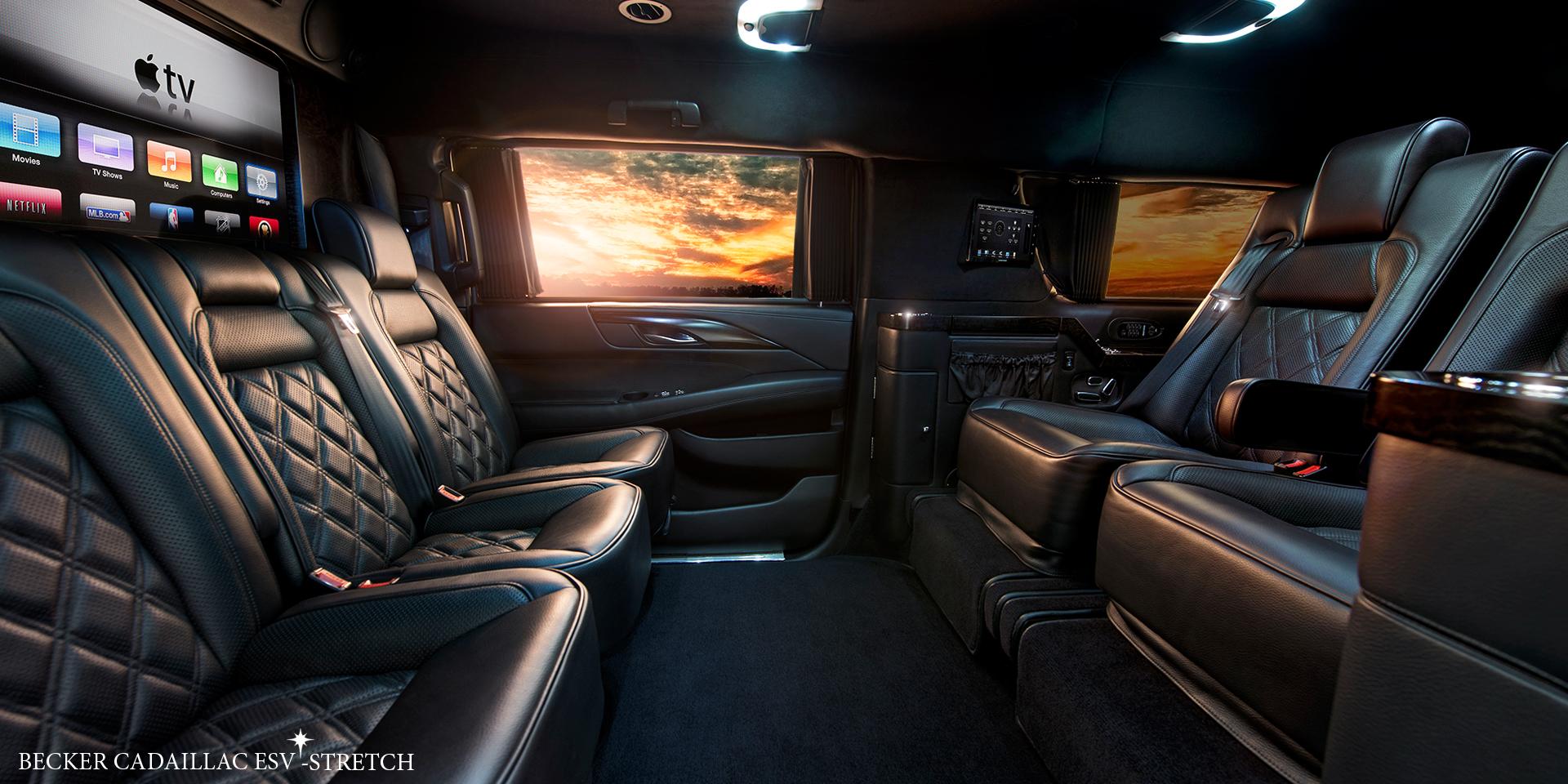 Cadillac Escalade 2017 Platinum Sky Edition >> Becker Automotive Design // Luxury Transport Coaches // Sprinter Van and Cadillac ESV Conversions